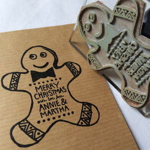Personalised 'Gingerbread Man' Christmas Stamp
