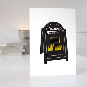 Bold Happy Birthday Card - view all sale items