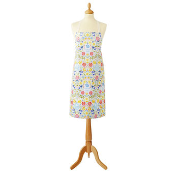 Team Gb National Flowers Cotton Apron