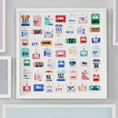 Personalised Travel Tag Artwork 49 Tags Bright colors