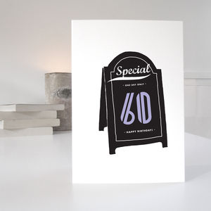 60th Special Age Birthday Card - birthday cards