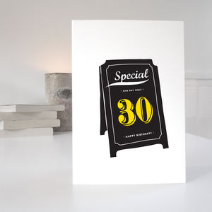 30th Special Age Birthday Card