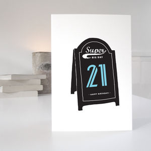 21st Special Age Birthday Card - 21st birthday cards