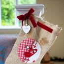 Personalised Rudolph Santa Stocking