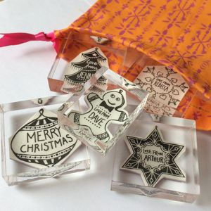 Personalised 'Baubles' Family Stamp Set