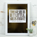 Personalised Gold Foil Quote Art Print