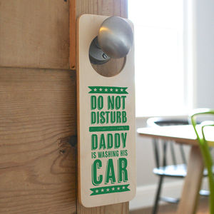 Personalised Door Hanger For Him - signs