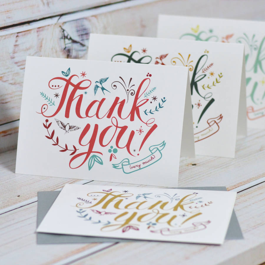 Thank You Cards By Oakdene Designs Notonthehighstreet