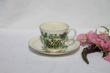 Flowering Tree Vintage Teacup Candle