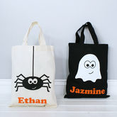 Personalised Halloween Ghost Or Spider Shopper Bag - halloween
