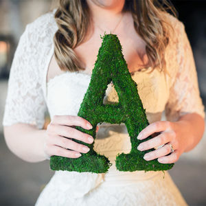 Moss Alphabet Letters - rustic wedding
