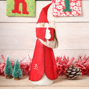 Santa Freestanding Decoration Or Christmas Tree Topper - tree decorations