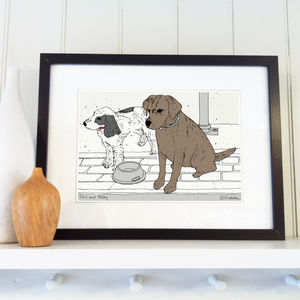 Colourwash Style Pet Illustration - drawings & illustrations