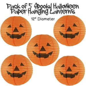 Halloween Hanging Lanterns Pack Of Five
