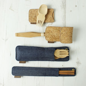 Picnic And Travel Bamboo Utensils - kitchen accessories