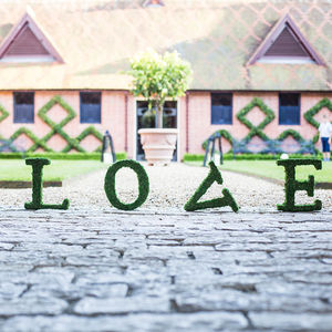 Moss Decorative Love Sign - hanging decorations