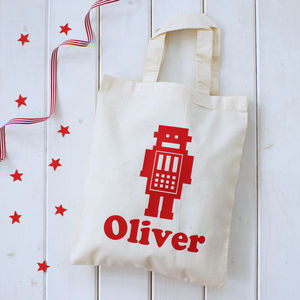 Personalised Robot Shopper Bag - children's storage