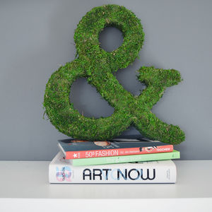 Real Moss Decorative Ampersand - art & decorations