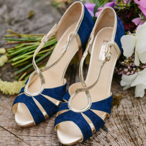 Victoria Suede Platform Wedding Shoes - bridal shoes