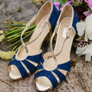 Victoria Suede Platform Wedding Shoes