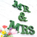 Real Moss Mr And Mrs Sign