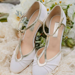 Orla Satin T Bar Wedding Shoes - bridal shoes