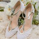 Orla Satin T Bar Wedding Shoes