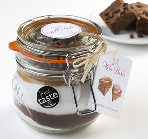 'Gorgeously Gooey' Chocolate Brownie Mix Jar - gifts for bakers