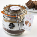 Gorgeously Gooey Chocolate Brownie Mix Jar
