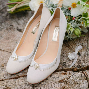 Catherine Suede Wedding Shoes