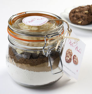 Belgian Double Chocolate Chip Cookie Mix Jar - gifts to eat & drink