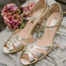 Wedding T Bar Sandals Ginger