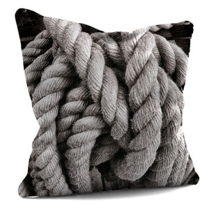Rope And Scallop Shell Cushion