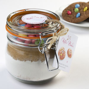 Chocolate Spotty Dotty Cookie Mix Jar - make your own kits