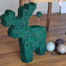 Woodland Real Moss Reindeer Decoration
