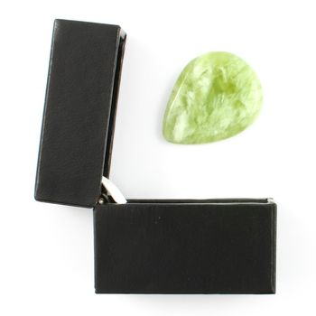 New Jade Guitar Pick / Plectrum In A Gift Box