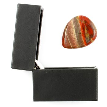 Rainbow Jasper Guitar Pick / Plectrum In A Gift Box