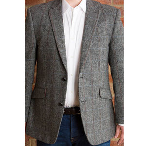 Men's Grey Tweed Jacket