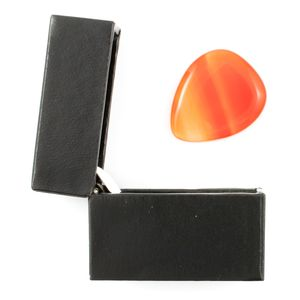 Carnelian Agate Guitar Pick / Plectrum In A Gift Box - plectrums