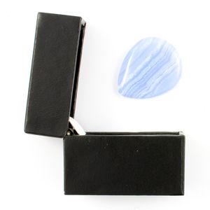Blue Lace Agate Guitar Plectrum In A Gift Box