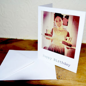 Polaroid Style Photo Greetings Cards - thank you cards