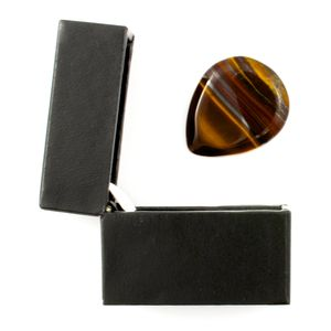 Banded Tiger Jasper Guitar Pick In A Gift Box - plectrums