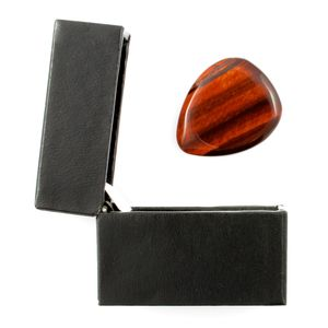 Red Tiger Eye Guitar Pick / Plectrum In A Gift Box