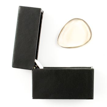 Smokey Quartz Guitar Pick / Plectrum In A Gift Box