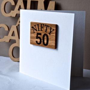 50th Birthday Magnet Card