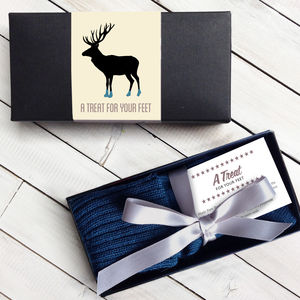 Personalised Box Of Men's Gift Socks - underwear & socks