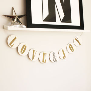 Love And Joy Letterpress Garland - view all decorations