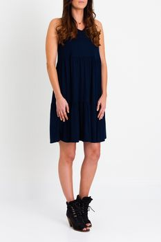 Ruby Tiered Dress Navy