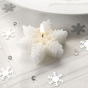 Set Of Three Snowflake Tealight Candles - candles & candlesticks