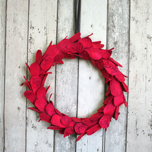 Large Neon Birch Bark Christmas Wreath - outdoor decorations